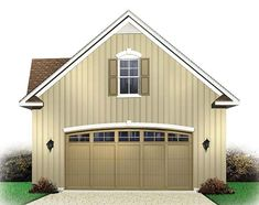 This garage plan has 576 s. on the main level and 277 s. above for storage.Matching House Plan: This garage plan matches house plan and 2 Car Garage Plans, Garage Plans With Loft, Loft Plan, Garage Loft, Garage Apartment Plans, Garage Apartments, Garage Ideas, Garage Storage, Barn Loft Apartment