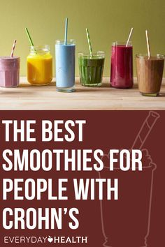 Learn why smoothies can help people with Crohn's. Frozen Pineapple, Frozen Banana, Smoothie Recipes, Snack Recipes, Power Smoothie, Unsweetened Coconut Milk, Crohn's Disease, Good Sources Of Protein, Good Smoothies