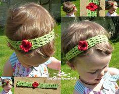 Crochet Trellis Flower Baby Headband Pattern - Crochet Headbands for Babies - 28 Free Patterns - DIY & Crafts