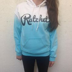 Ratchet Clothing | Blue Dip Dye Hoodie