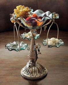 """""""Morning Glory"""" Epergne by Janice Minor at Neiman Marcus.  This is so pretty!"""