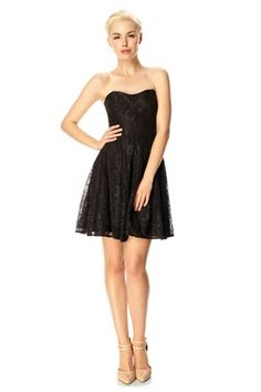 Lucky Lace Strapless Dress - Dresses - French Connection