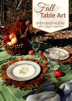 I had the most fun creating and photographing my homemade natural elements for fall or Thanksgiving table settings. I can't wait for you to stop by.  This is my most favorite tablescape yet.  Please let me know what you think.
