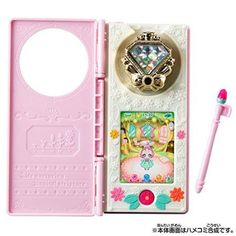 Mahoutsukai PreCure: Wrinkle Suma. A cute tamagotchi-like toy, where you can take care of a little fairy named Ha-chan. Linkle Stones can be used for unlocking things in this toy, like foods and clothings. A very cute and lovely toy that I wish to own, as Ha-chan/Hanami/Cure Felice is my favourite character.