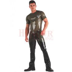 Latex Rubber Men's Combat Pants