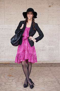 not sure about the floppy hat, but love this dress!
