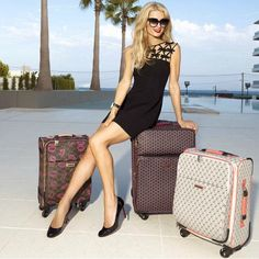 "Paris Hilton on Instagram: ""Love my new @PHpurses luggage collection! Travel in style """