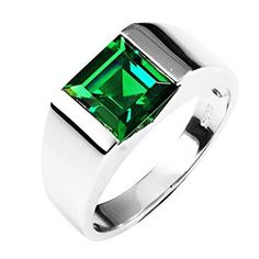 http://rubies.work/0159-ruby-rings/ Glucky : Classic Fashion 8.5ct Russian Nano Emerald Wedding Ring For Mens Sets Genuine 925