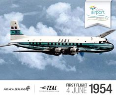 On this day back in 1954 @airnz (or TEAL as it was then) first arrived into @tropicalnorthqueensland. The DC6 charter flew to Cairns en-route to Guam-Iwakuni-Tokyo from Sydney.  Regular Air New Zealand services between Cairns and Auckland commenced in December 1988