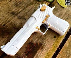 She is a Beauty White Cal Desert Eagle I want a pair! One white one black! Weapons Guns, Guns And Ammo, Ninja Weapons, Desert Eagle, Airsoft, Armas Ninja, Hand Cannon, Custom Guns, Custom Glock