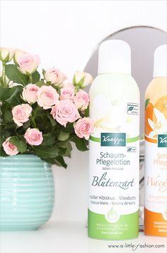 Blütenzarte Haut mit Kneipp Schaum-Pflegelotion   A Little Fashion   http://www.a-little-fashion.com/beauty/kneipp-hautpflegelotion-bluetenzart-wachgekuesst #beauty #pflege #haare #haut #gesicht #kur #körper #filizity