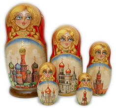 Kremlin 5 pc Matryoshka - €47.40 : Matryoshka dolls, Babushka dolls and Russian Nesting dolls Store