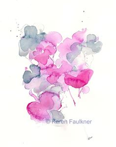 I Gathered My Love watercolor floral giclee fine art print 8x10 inches. $20.00, via Etsy.