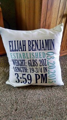 Personalized Canvas pillow prints by Thirty-one gifts contact me for yours. I can get a preview of your information. bonniekaye@gmail.com Order yours at www.bonniekschulz.com