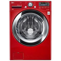 LG - WM3370HRA - WM3370HRA 4.3 cu. ft. Ultra Large Capacity Front Load Washer w/ Steam – Red | Sears Outlet