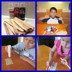 Kid DIY Project: Popsicle Stick Flags. A Perfect activity for the whole family to do.