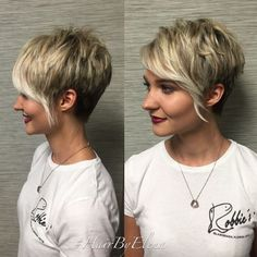 Long pixie haircut looks superb modern and cool. It is best for people who do not have much time in styling their hair. Messy Long Pixie Haircuts for Fine Hair /Via The slight edge makes the textured pixie haircut soft and feminine. Short Pixie Haircuts, Cute Hairstyles For Short Hair, Short Hair Cuts, Short Hair Styles, Asymmetrical Haircuts, Trendy Hairstyles, Choppy Haircuts, Short Hair Long Bangs, Natural Hairstyles