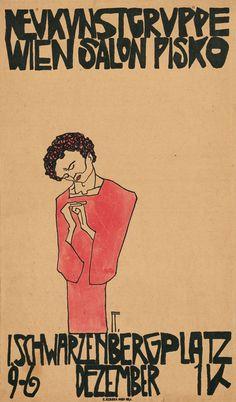 Egon Schiele | In 1908 Schiele had his first exhibition, in Klosterneuburg.