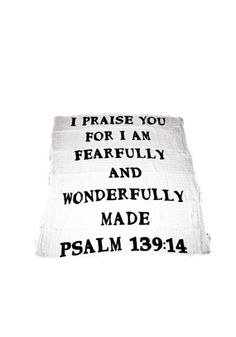 Organic Cotton Muslin Swaddle Blanket - I am fearfully and wonderfully made Psalm Everything's Rosie, Baby Body Temperature, Fearfully Wonderfully Made, Baby Vision, Psalm 139 14, Baby Shower Wishes, Happy New Year 2016, Muslin Swaddle Blanket, Beauty Photos