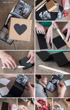 Cajita con fotos trágalo para San Valentín