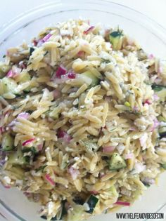 Cucumber + Feta Orzo Salad: Fantastic! This dish was so refreshing on a hot summer day. We had ours along side some chicken and the pairing was great.