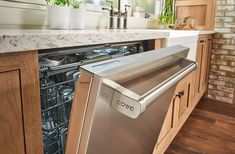 "Back in rumors began swirling at Sub-Zero that a dishwasher was once again in development. Then in Sub-Zero let the word loose through a well-timed WSJ article, that it's new dishwasher was coming and was to be called ""Cove"". Open Kitchen, Kitchen And Bath, Nice Kitchen, Specialty Appliances, Kitchen Appliances, Kitchens, Kitchen Cupboards, Kitchen Layout, Kitchen Design"