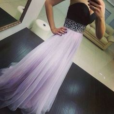 Charming tulle prom dress,lavender evening dress,long prom dress,sexy party…