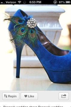 Peacock wedding shoes  www.weddingsonline.in