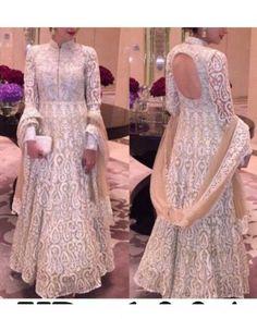 Buy Karishma Kapoor Chain Stitch Net Gown With Dupatta - Gown Online Designer Gowns, Designer Wear, Net Gowns, Gowns Online, Beachwear For Women, Chain Stitch, Indian Dresses, Anarkali, Indian Fashion