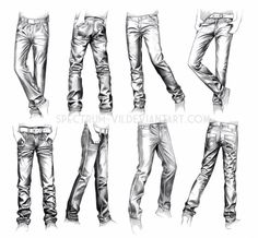 Clothing Study: Jeans by Spectrum-VII http://fav.me/d6ispdy