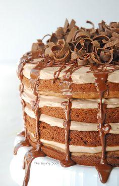Nutella Chocolate Torte More cake & cookie & baking inspiration: http://ift.tt/1404eu8