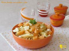 Pasta fredda con melone e feta, ricetta veloce. Come preparare una pasta fredda veloce e originale che non richiede altra cottura se non quella della pasta