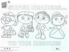 SUPER WHY Coloring Book Pages | Coloring Pages | Pinterest | Parents ...