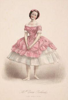 Ballet art: Vintage ballerina graphic