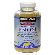 one gram of fish oil per day works wonders on the body. Keeps skin and hair healthy and reduces risk of heart disease and helps squelch inflammation.