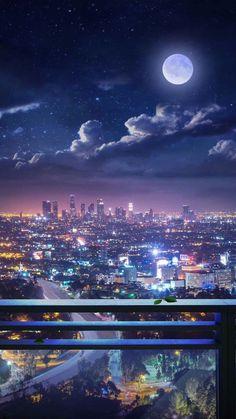 Night Sky Wallpaper, City Wallpaper, Anime Scenery Wallpaper, Landscape Wallpaper, Aesthetic Pastel Wallpaper, Aesthetic Backgrounds, Aesthetic Wallpapers, Trendy Wallpaper, Aesthetic Stickers