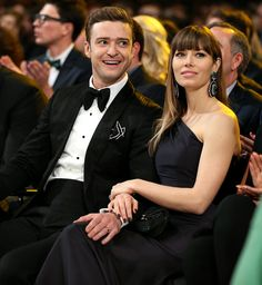Jessica Biel was by husband Justin Timberlake's side at the 2013 Grammys @StaplesCenter Los Angeles 2/10/13  http://celebhotspots.com/hotspot/?hotspotid=6465&next=1
