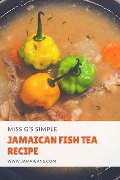 Miss G's Simple Jamaican Fish Tea Recipe World Recipes, Tea Recipes, Fish Recipes, Gourmet Recipes, Chicken Recipes, Jamaican Dishes, Jamaican Recipes, Jamaican Fish Soup Recipe, Seafood