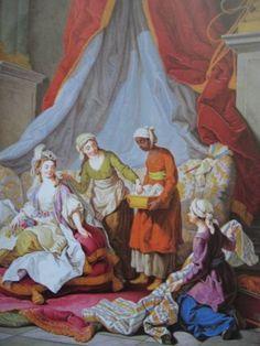 "Charles-Amedee-Philippe van Loo. ""The Sultana at her Toilette."" 1783 (detail)."