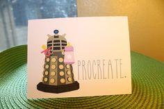 PROCREATE, Dalek baby - Doctor Who card