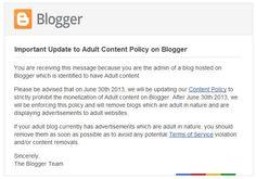 Blogger dice NO a los blogs con contenido para adultos que tengan anuncios  http://www.genbeta.com/p/102369