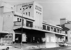 The Adelphi Cinema, Sea Point 1960 Drive In Cinema, New Cinema, Old Photos, Vintage Photos, Art Deco Buildings, Holiday Apartments, African History, Beautiful Buildings, Cape Town