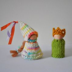 Prince and Princess Peg Doll Set pattern on Craftsy.com