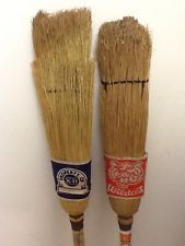 Two Vintage straw Curling Brooms Brooms And Brushes, Vintage Curls, Raptors, The Good Old Days, Creative Art, Ads, Memories, Sport, Drawing