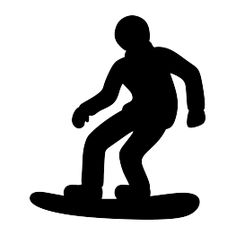Snowboarder Silhouette FREE SVG