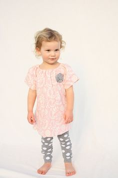 Baby Girl Dress Easter Dress pink peasant Dress by haddygrace, $32.00