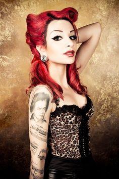 rockabilly with tats.. #rockabilly #tattoo #vintage