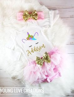 Unicorn outfit baby girl unicorn outfit unicorn birthday outfit unicorn party first birthday baby girl birthday unicorn pink tutu outfit Baby Girl 1st Birthday, Birthday Tutu, Unicorn Birthday Parties, Unicorn Party, Birthday Ideas, Glitter Birthday, Glitter Party, Husband Birthday, Baby First Outfit
