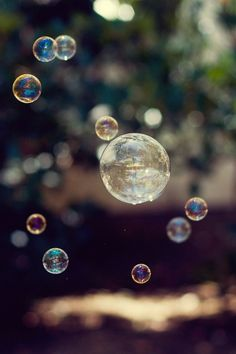 Blowing Bubbles make me feel Ike a kid again!