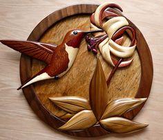 Intarsia Hummingbird - by TripleB @ LumberJocks.com ~ woodworking ...